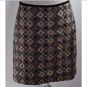 Ann Taylor Loft women's skirt size 12 lined print